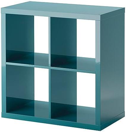 Estantería, turquesa de alto brillo - - IKEA Kallax 77x77 cm ...