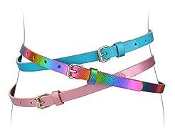 Belts for Girls 3 Pack Kids Belt Girls F...