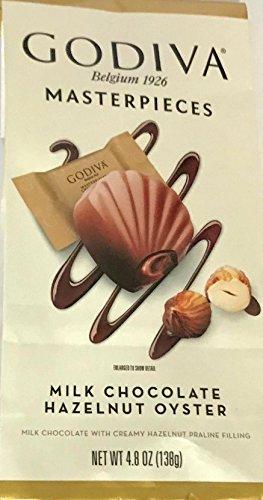 Milk Praline (Godiva Masterpieces Milk Chocolate Hazelnut Oysters - Hazelnut Praline Filling 4.8 Ouncel)
