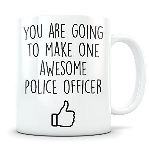 Police Graduation Gifts - Future Police Science Graduates - New Law Enforcement Officer Coffee Mug for Men and Women Students Class of 2018 - Funny Grad Diploma or Academy Degree Congratulations ()