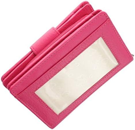 Origin Ladies Tab Purse Wallet Mala Leather with RFID ID Protection 3118 Purple