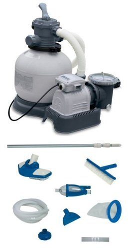INTEX Krystal Clear 2800 GPH Sand Filter Pool Pump with Maintenance Kit ()