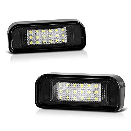 2006 Mercedes S-class - VIPMOTOZ Full LED License Plate Light Lamp Assembly Replacement For 2000-2006 Mercedes-Benz W220 S-Class AMG - 6000K Diamond White, 2-Pieces