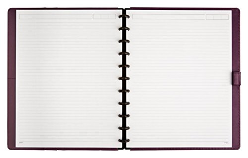 TUL Custom Note-Taking System Discbound Notebook, Letter Size, Leather Cover, Purple by TUL