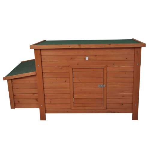 Pawhut Wooden Chicken Coop / Poultry Hutch w/ Nesting Box
