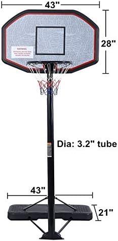 KKB Sport Adjustable Basketball Hoop System Stand Kid Indoor Outdoor Net Goal w//Wheels