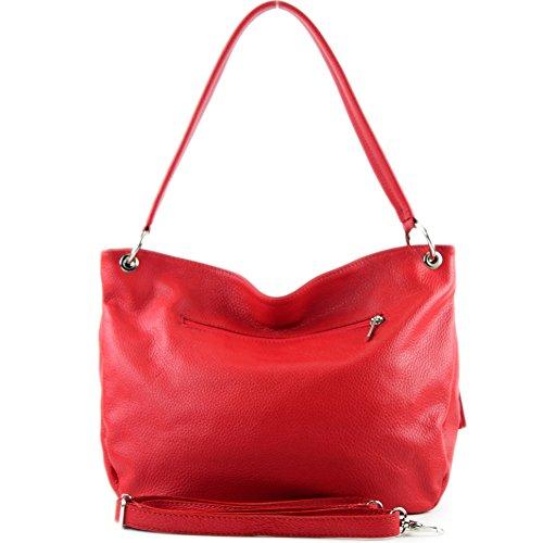 modamoda Bolsa piel hombro de Funda Rojo cuero cuero T154 de de Bolsa de genuino qxrCqHBwU
