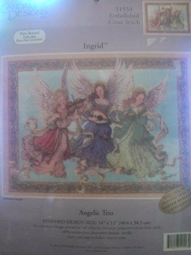 Angelic Trio Counted Cross Stitch Kit 51553 Ingrid 16 x 12