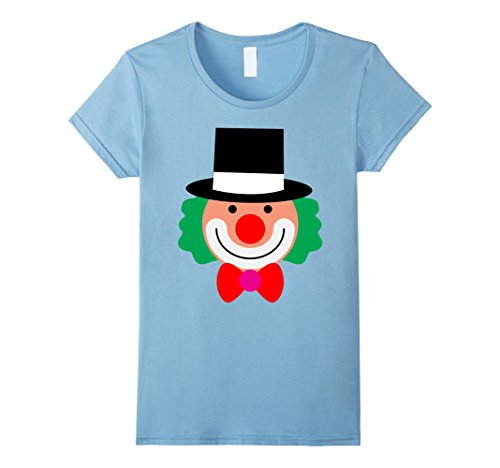 Womens Clown for Halloween and Thanksgiving costume ideas T-shirt XL Baby Blue