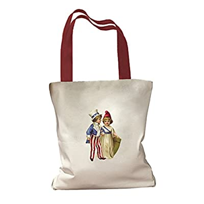 American Kids 4th of July Canvas Colored Handles Tote Bag