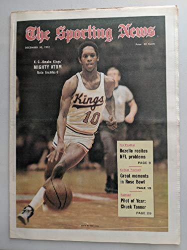 - 1972 Sporting News December 30 Nate Archibald Kings Excellent
