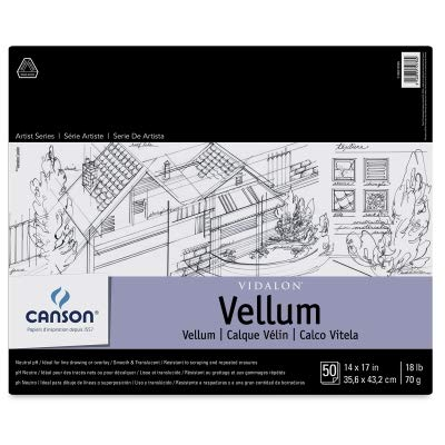 Sandylion Vidalon Tracing Vellum 14 in. x 17 in. pad of 50 sheets by Canson