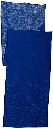 LA Linen - Camino de Mesa de arpillera Natural teñida, 35,5 x 274 cm, Azul Royal, 1