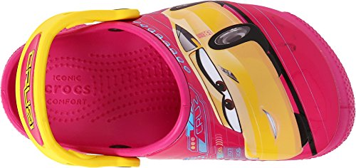 Image of crocs Kids' Crocsfunlab Lights Cars 3 Clog, Candy Pink, 7 M US Toddler