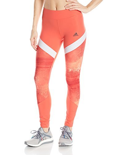 adidas Women's Training Wow Drop Tights, Easy Coral/Print/White, Small
