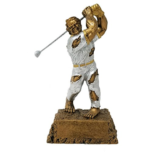 Monster Golf Trophy - Customize Now - Personalized Engraved Plate Included and Attached to Award - Perfect Golf Award Trophy - Hand Painted Design - Great for Recognition - Decade (Funny Recognition Awards)