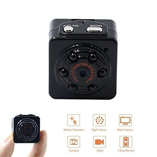 Mini Spy Camera Hidden Micro Cam Portable Security Camera 1080P HD TANGMI Pocket Motion Detection Video Surveillance Camcorder IR Night Vision Loop Recording for Car Home Office