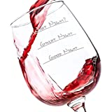 What Night? Funny Wine Glass 13 oz - Best Christmas Gifts For Women - Unique Gift For Her - Novelty Birthday Present Idea For Mom, Wife, Girlfriend, Sister, Friend, Boss, Coworker, Adult Daughter