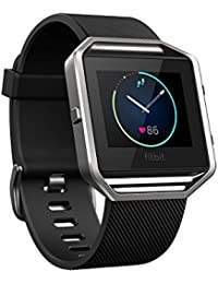 Blaze Smart Fitness Watch, Black, Silver, Large (6.7 - 8.1 inch)