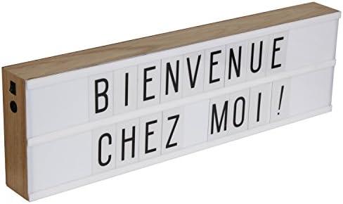 Recinto de anuncios luminosa LED (madera (50 x h.15 cm) + 130 letras opjet: Amazon.es: Iluminación