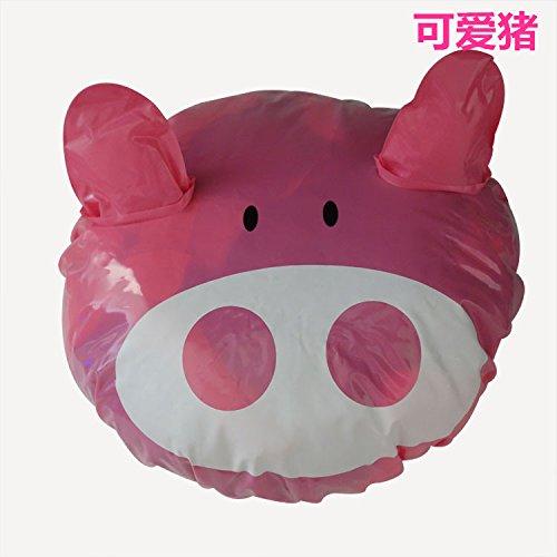 Lunar Pig - Lunar baby Cartoon Fun Waterproof Shower Cap for Children, Kids PVC Shower Hat, Spa/Swimming Bathing Cap ( Pink Pig)