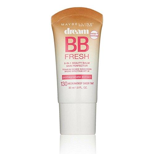 Maybelline Dream Fresh BB 8-in-1 Beauty Balm Skin Perfector SPF 30, Medium/Deep 1 oz ( Pack of 2)