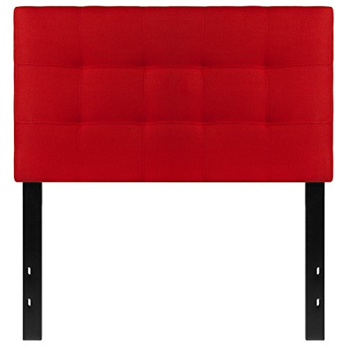 Flash Furniture Bedford Tufted Upholstered Twin Size Headboard in Red Fabric