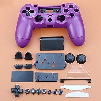 Carcasa Completa con Botones para Sony Playstation 4 PS4 JDM-011 JDM-001, Mando inalámbrico, Color Morado: Amazon.es: Electrónica