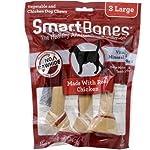 Smartbones Premio de Pollo con Vegetales, Camote y Clorofila, Razas Medianas, Paquete de 4 Piezas