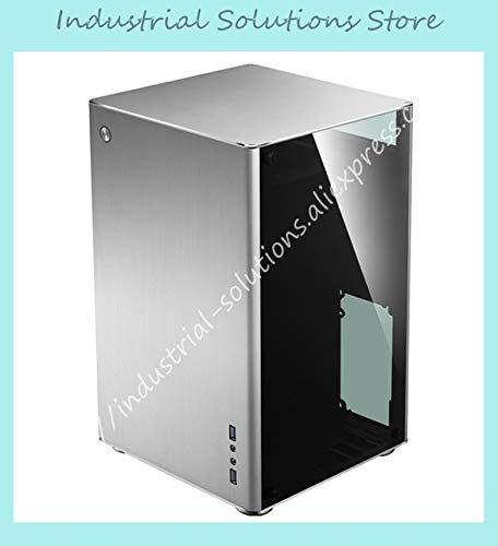Fevas VR1 case ITX Aluminum case Double Glass Side Penetration - (Color: Transparent)