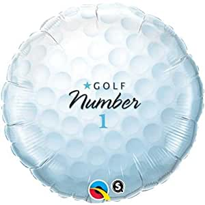 "Single Source Party Supplies - 18"" Golf Ball Mylar Foil Balloon"