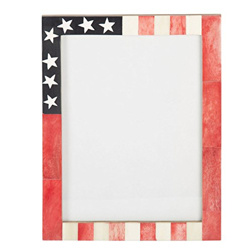 Handicrafts Home USA American Flag Picture Photo Frame Souvenirs Handmade Naturals Bone Frames from Photo Size 4X6 & 5x7 inches (6x8)
