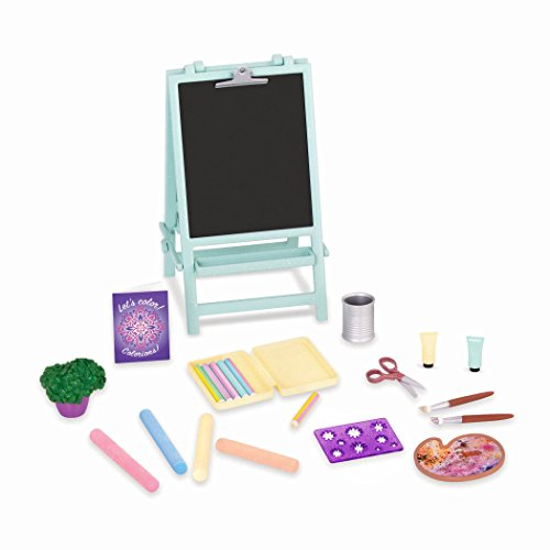 Glitter Girls by Battat – Creative Art Kit Chalkboard Easel Accessory Set – 14-inch Doll Clothes and Accessories for Girls Age 3 and Up – Children's Toys