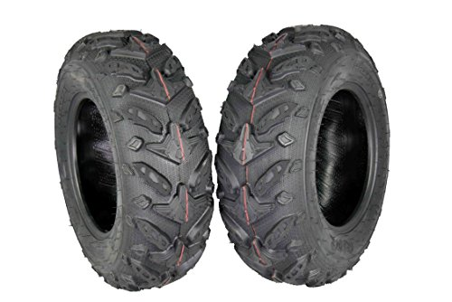 MASSFX Grinder Series ATV Dual Compound Tread Honda Recon All Years (Four Pack Two Front 22x7-11 Two Rear 22x10-9) Mud Sand Snow and Rock Tires by MASSFX (Image #2)