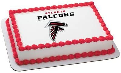 Awesome Amazon Com Atlanta Falcons Licensed Edible Cake Topper 4583 Funny Birthday Cards Online Alyptdamsfinfo