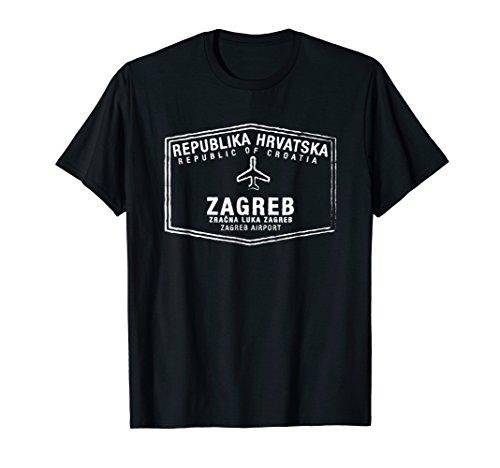 Zagreb Croatia Passport Stamp Vacation Travel T-shirt