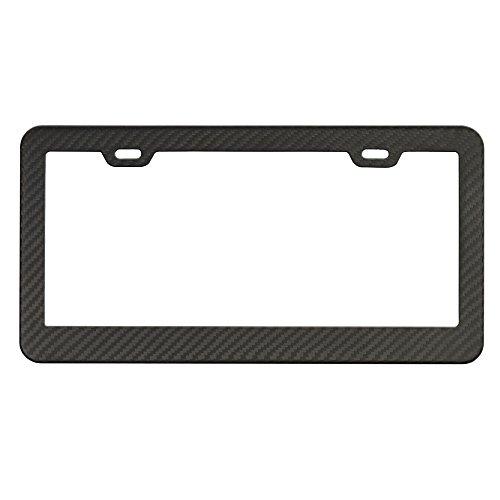 Carbon Fiber License Plate Frame (Matte Black)
