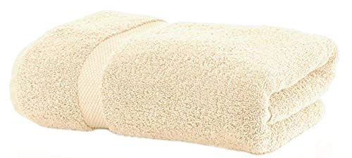 Lint Free Single Oversized Premium Turkish Towel Set (1 Extra Large Bath Sheet) Prime Bathroom 450 GSM Quick Dry Off Cotton, Hotel Quality Luxury Reserve Designer 2018 Collection Brand Beige