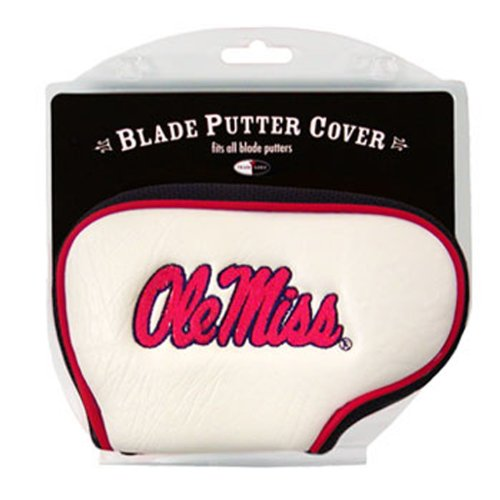 Team Golf NCAA Ole Miss Rebels Golf Club Blade Putter Headcover, Fits Most Blade Putters, Scotty Cameron, Taylormade, Odyssey, Titleist, Ping, Callaway