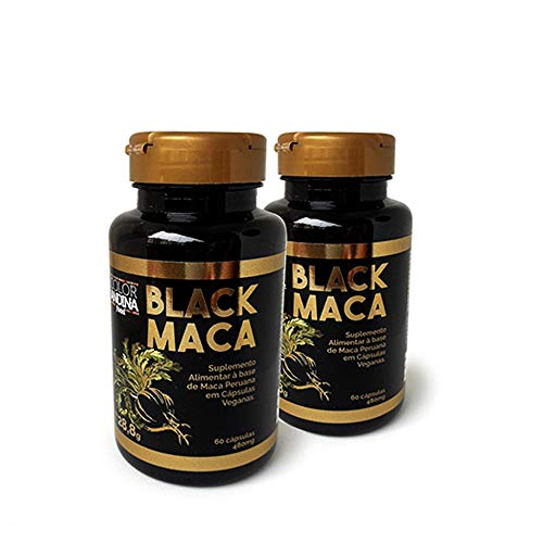 Maca Peruana Black (Preta) Maca, Color Andina Food, Veg, 120 caps