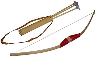 Juguetutto - Arco Pequeño - Flecha con Ventosa - Rojo - Juguete de Madera
