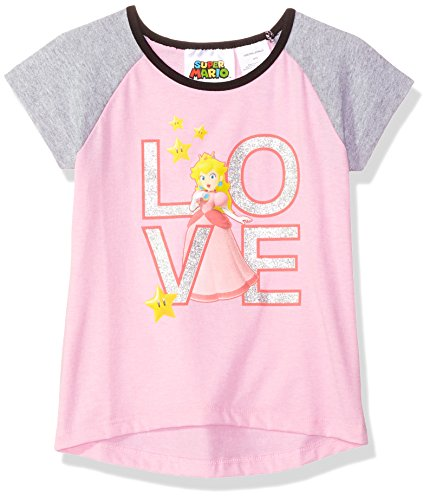 Nintendo Girls' Big Princess Peach Love T-Shirt, Pink, 14/16
