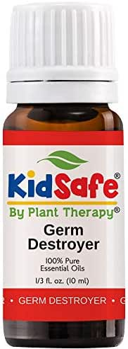 Plant Therapy Germ Destroyer Synergy Essential Oil | Guard From Illness, Support Blend for Kids | 100% Pure, KidSafe, Undiluted, Natural Aromatherapy, Therapeutic Grade | 10 milliliter (⅓ ounce)