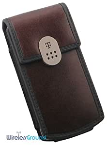 T-Mobile BlackBerry Pearl Vertical Leather Pouch - Brown