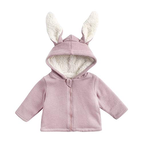 Lurryly❤Children Girls Boys Warm Winter Wadded Jacket Outerwear Hoodie Tops Clothes 0-6T