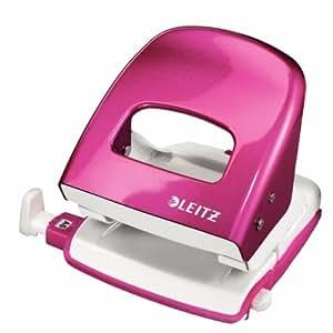 Leitz Nexxt - Perforadora de papel (2 agujeros, acero), color rosa