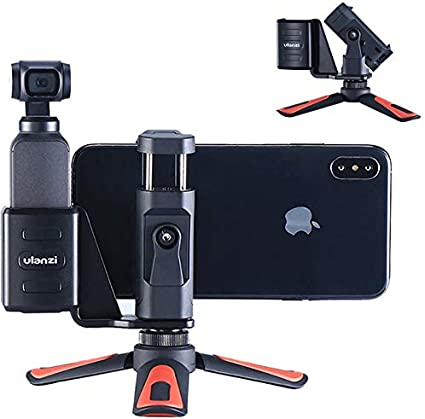 NEW-Live Tripods - Ulanzi Mini Portable Tripod For DJI Osmo Pocket Camera Handle Grip Phone Mount Clip Holder Bracket Desktop Tripod Accessories