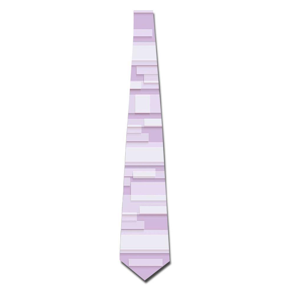 WuLion Contemporary Artistic Stone Like Linear Band Motif In Pastel Tones Artwork Men's Classic Silk Wide Tie Necktie (8 CM)