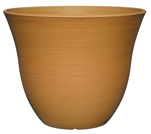 Plastic Planter Round (GARDENGOODZ Honeysuckle Planter, Patio Pot, 15