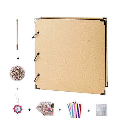 FaCraft 12x12 Scrapbook Album and Accessories (Khaki) -